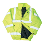 Hi Vis Yellow Bomber Jacket